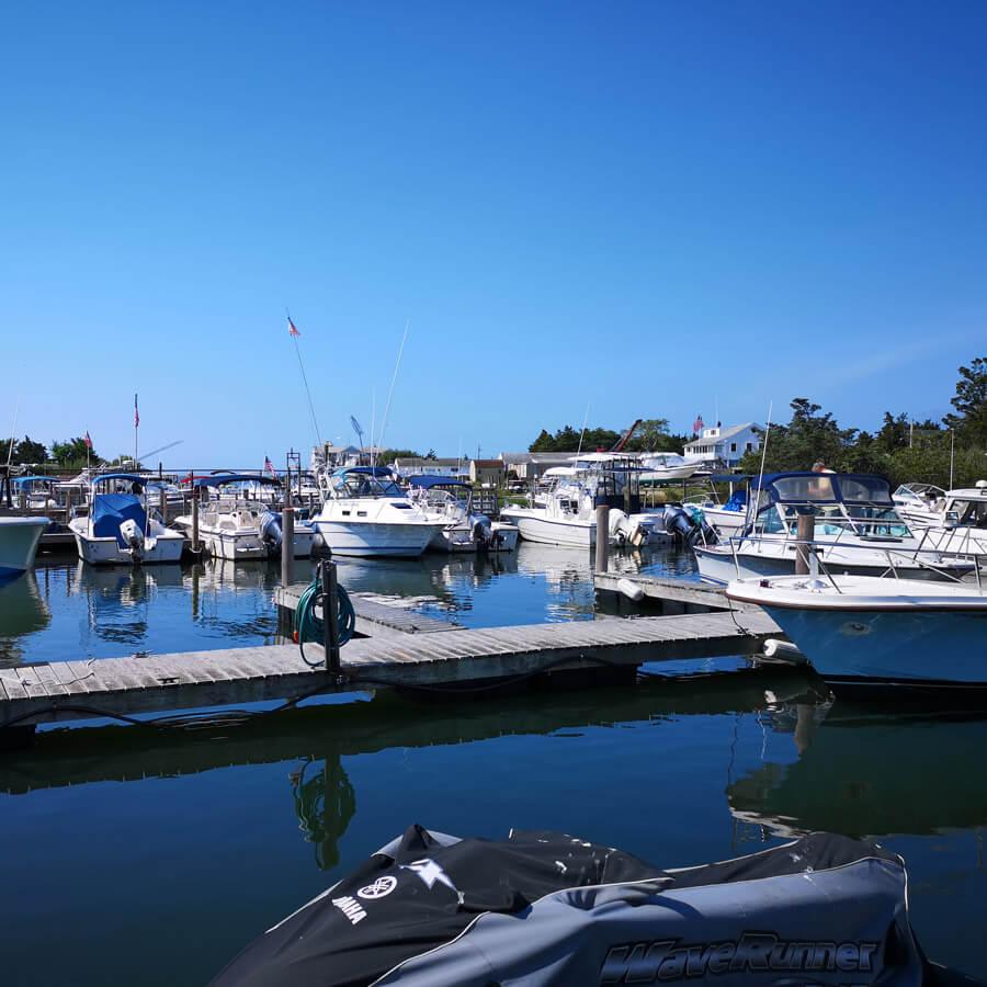 Private Marina on Hampton Bays